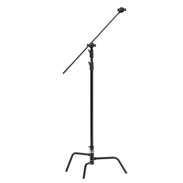 """Kupo 40"""" Master Black C-Stand with Turtle Base, Grip Head & Arm"""