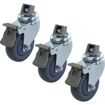 Kupo KS940912 100mm Caster with Brake M10 Thread Adapter - Set of Three