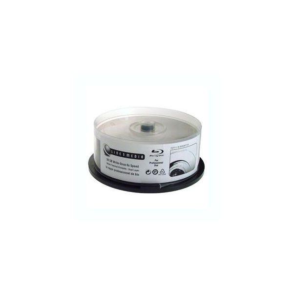 Line 1 Media 6X Double-Layer White Thermal Hub Print 50GB Blu-Ray - 25pc