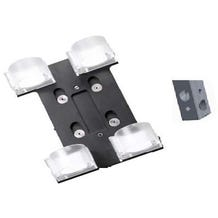 "Ledgo T14 Transparent clip for 2 tubes with 5/8"" Lamp Adapter"