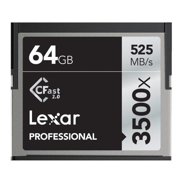 Lexar 64GB Professional 3500x CFast 2.0 Memory Card