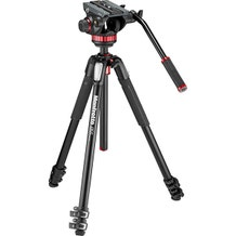 Manfrotto MT055XPRO3 Aluminum Tripod with 502HD Fluid Head Hybrid Video Kit