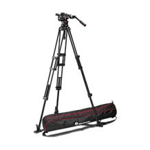 Manfrotto Nitrotech N12 Video Head & 545GB Dual-Leg Tripod System with Ground Spreader