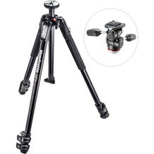 Manfrotto MK190X3-3W1 Aluminum Tripod with 804 MK II 3-Way Pan/Tilt Head