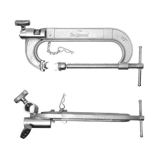 """Matthews Studio Equipment 439008 8"""" C Clamp with Double Junior Receiver - Steel"""
