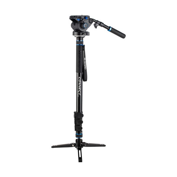 Benro #4 MCT48AF Monopod with Flip Locks, 3-Leg Base, and S6 Video Head