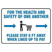 """Accuform Safety Sign: For The Health And Safety Of One Another - Accu-Shield (7"""" x 10"""")"""