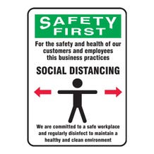 """Accuform OSHA Safety Sign: For The Safety And Health Of Our Customers And Employees - Adhesive Dura-Vinyl (10"""" x 7"""")"""