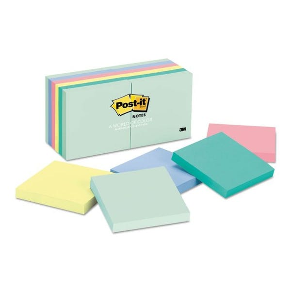 "Post-It 3 x 3"" Sticky Notes 100 Sheets - Assorted Colors"