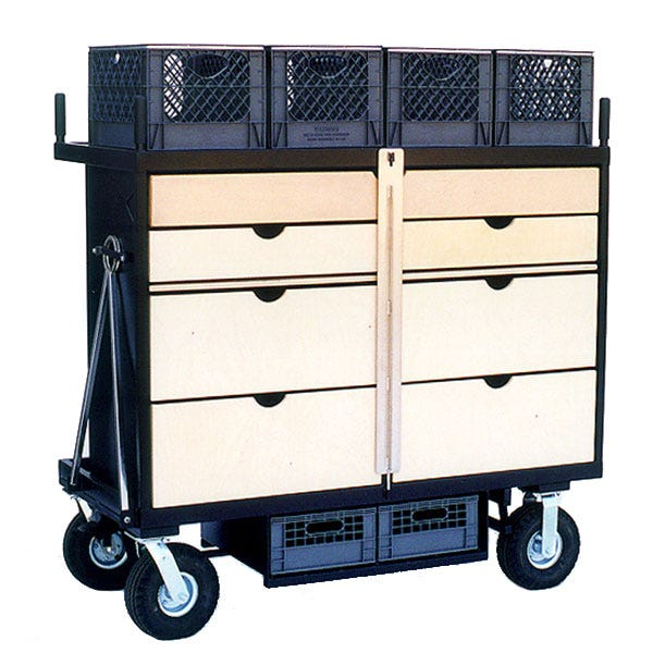 Backstage P-04 Large Prop Cart w/ 7 Drawers