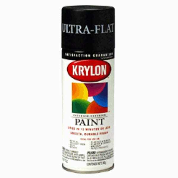 Krylon Ultra Flat Black Spray Paint #1602 (Ground Only) Mfr #: PA112