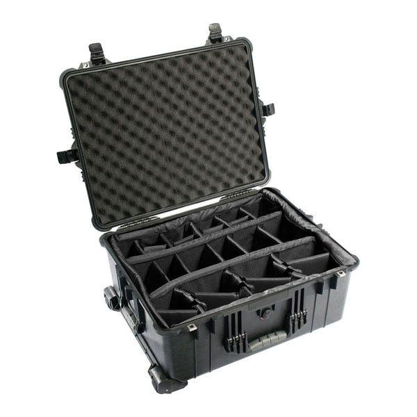 Pelican 1610 Waterproof Case with Dividers - Black