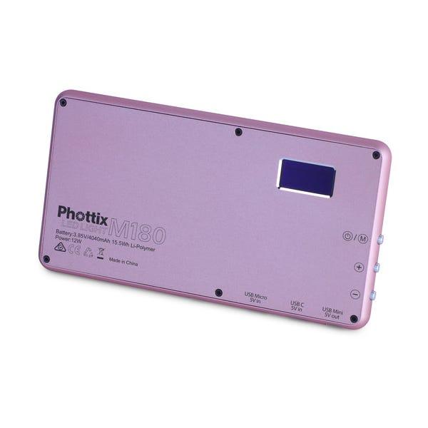 Phottix M180 Bi-Color LED Panel and Power Bank - Rose Gold