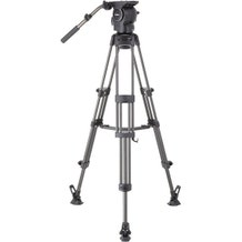 Libec Professional Carbon Piping Tripod System with Mid-level Spreader for ENG Setups