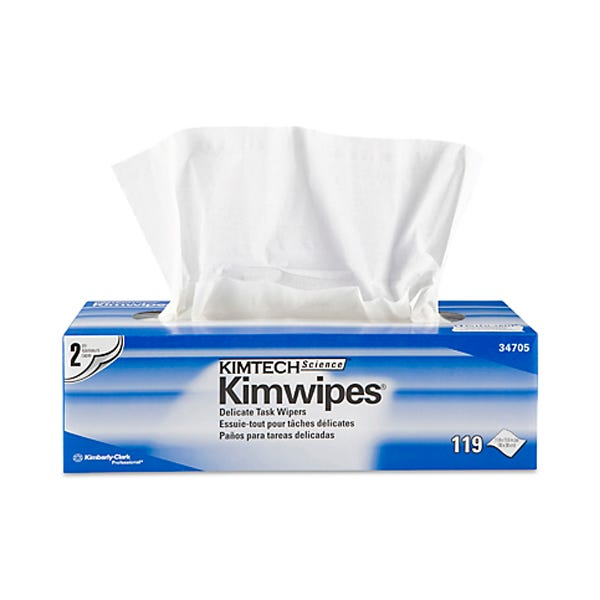 "Kimtech Science 12 x 12"" KimWipes Low-Lint Task Wipers - 2-ply 119 count"