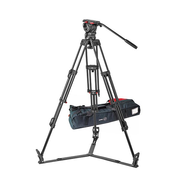 Sachtler 1041 Tripod System with FSB 10 Head, ENG 2 D Tripod, Ground Spreader SP 100, and Padded Bag ENG 2