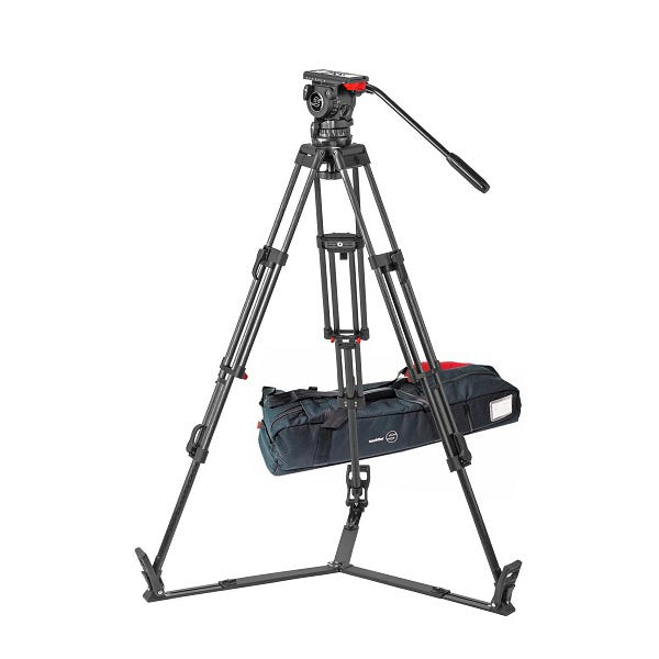 Sachtler 1048 Tripod System with FSB 10 T Head, ENG 2 CF Tripod, Ground Spreader SP 100, and Padded Bag ENG 2