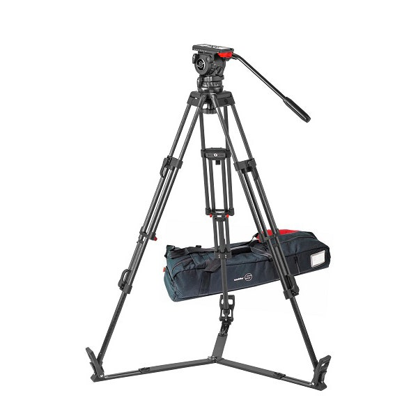 Sachtler 1049 Tripod System with FSB 10 T Head, ENG 2 CF Tripod, Mid-Level Spreader, and Padded Bag ENG 2