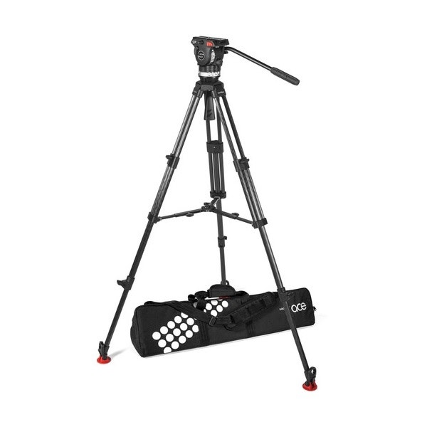 Sachtler Ace XL Carbon Fiber Tripod System with Mid-Level Spreader