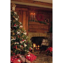 Savage Cozy Holiday Fireplace Printed Vinyl Backdrop - 5x7ft