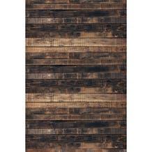 Savage Worn Brown Wood Printed Vinyl Backdrop - 5x7ft