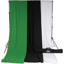 Savage Accent Muslin Background Kit (10 x 12', White/Black/Green)