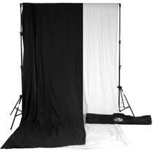 Savage Accent Muslin Background Kit (10 x 12', White/Black)