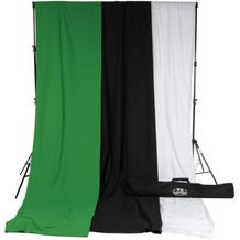 Savage Accent Muslin Background Kit (10 x 24', White/Black/Green)