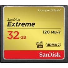 SanDisk Extreme CompactFlash Memory Card (Various Memory Capacities)
