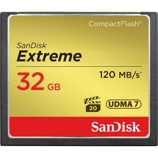 SanDisk Extreme CompactFlash Memory Card (Various Memory Capacities)
