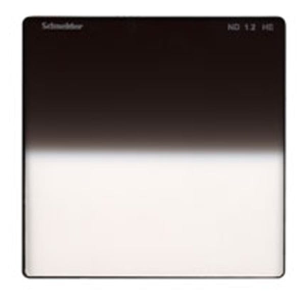 "Schneider Optics 4 x 4"" Graduated Neutral Density (ND) 1.2 Water-White Glass Filter - Hard Edge"
