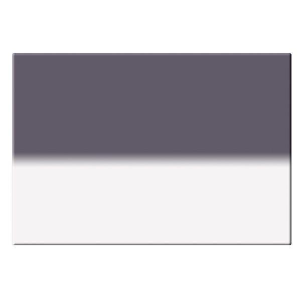 "Tiffen 4 x 5.65"" Hard Edge Graduated Neutral Density (ND) 0.6 Filter - Horizontal Orientation"