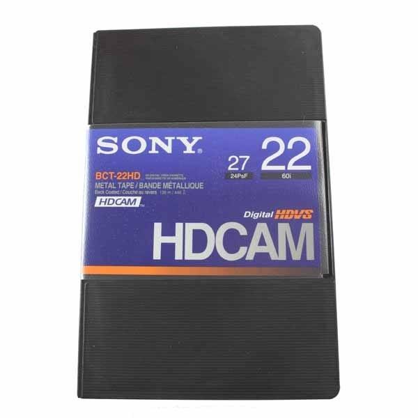 Sony BCT22HD HDCAM 22min Video Tape - Small