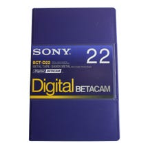 Sony Digital Betacam Video Cassette 22min