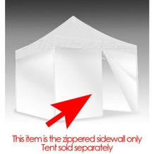 E-Z UP Eclipse&trade II Tent Zipper Side/Front Wall 10x10 White