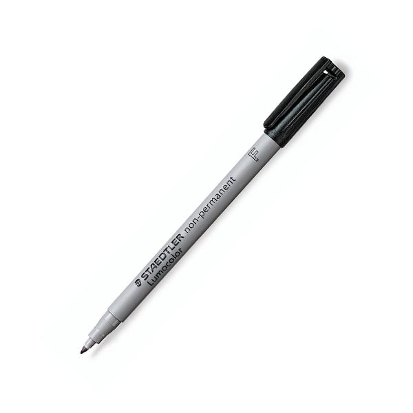 Staedtler Lumocolor Fine Point Overhead Projection Non-Permanent Marker - Black