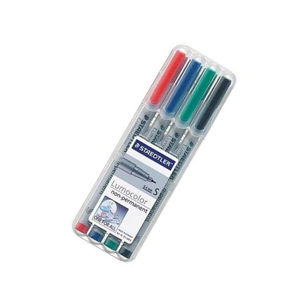 Staedtler SuperFine Lumocolor Non-Permanent Marker Set - 4 Colors