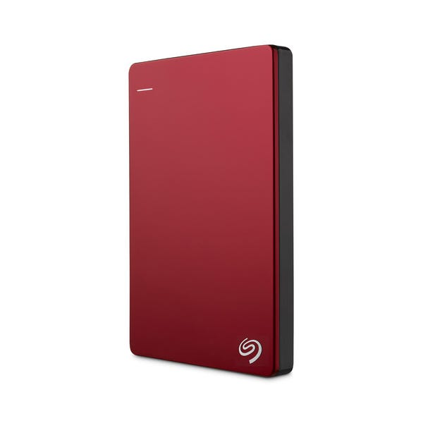 Seagate 2TB Backup Plus Slim Portable External Hard Drive - Red