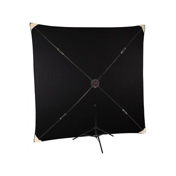 Studio Assets PXB Pro 8 x 8' Portable X-Frame Background System with Black Muslin