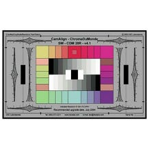 "DSC Labs CamAlign CDM 28R Chroma DuMonde Color Calibration Chart.  21.25"" x  13"". w/ Trumpets"