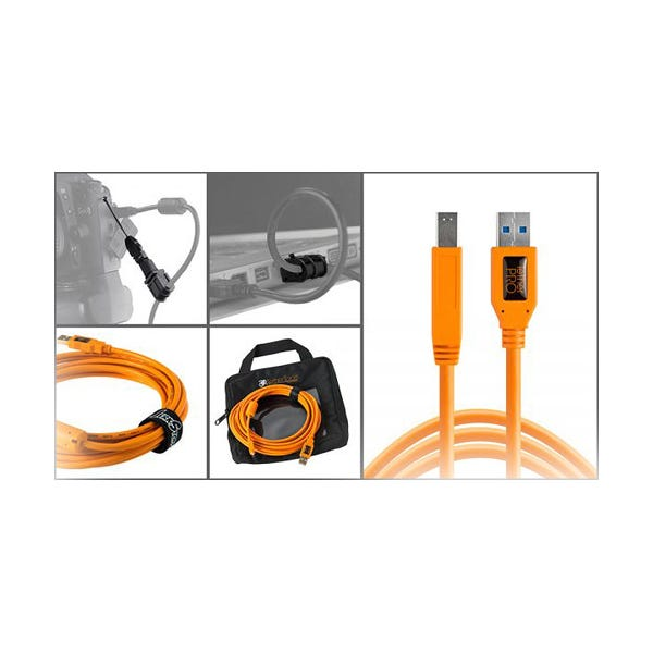 Tether Tools Starter Tethering Kit with USB 3.0 Type-B Cable - Orange