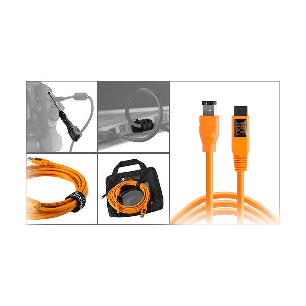 Tether Tools Starter Tethering Kit with FireWire 6-Pin Cable - Orange