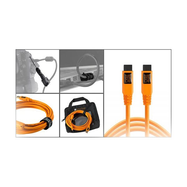 Tether Tools Starter Tethering Kit with FireWire 9-Pin Cable - Orange