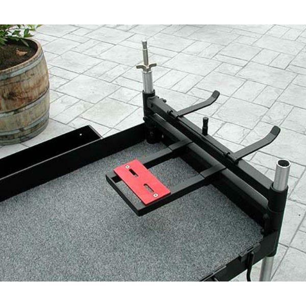 "Dual Tripod Holder & 5/8"" Spud for our Aluminum Camera Cart"