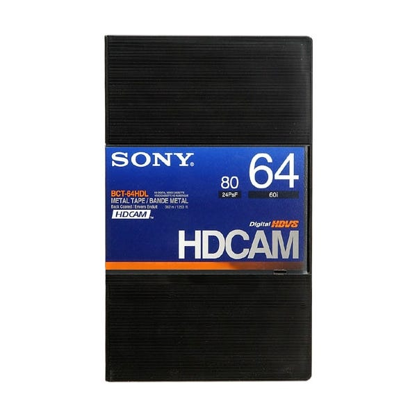 Sony Hi-Def HDCAM Digital Video Cassette 64 minutes