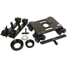 Dana Dolly Portable Dolly System w/ Universal Track Ends - 100 & 150mm Bowl Adapters