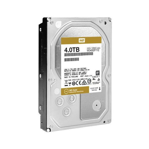 """WD Gold 4TB 3.5"""" HDD, SATA 6Gbs, 129MB, 7200RPM"""
