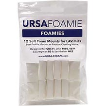 Ursa Foamies 12 Foam Mounts for Lavalier Microphones - White