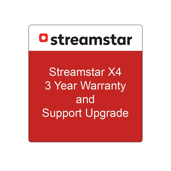 Streamstar X4 3 Year Warranty and Support Upgrade